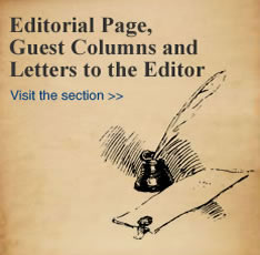 Editorial Page, Guest Columns and Letter to the Editor