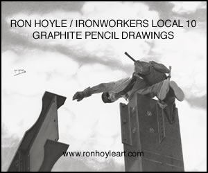Ron Hoyle/Ironworkers Local 10 Graphite Pencil Drawings