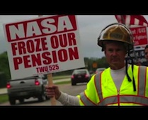 NASA Firefighters Protest Huge Cuts & Losses