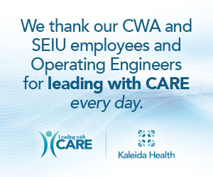Kaleida Health - We thank our CWA and SEIU employees and Operating Engineers for leading with CARE every day.