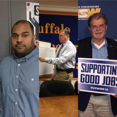 WNY Area Labor Federation President DeJesus, Buffalo Teachers Federation President Rumore, USW District 4 Director Vitale & UAW Region 9 Director Binz Listed Among City & State's 2021 New York State Labor Power 100 Ranking