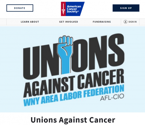 """This Is What Labor Does:"" WNY AFL-CIO Area Labor Fed Puts Its 'Stamp Of Approval' On 'Unions Against Cancer' - Unique Fundraising Drive Championed By NYSUT's Joe Cantafio Hopes To Raise Thousands Of Dollars"